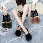In the autumn of 2017 new flat fox Mao Maomao shallow mouth shoes leisure shoes shoes Doug Korean comfort women