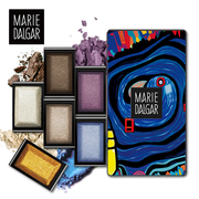 Mary de Jia Domino DIY eye shadow 3 packets sent to send 5 Color Eye Shadow Box lasting color makeup combination