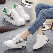 In the autumn of 2017 new Korean thick bottom increased white shoe shoes shoes shoes bottom muffin bag mail