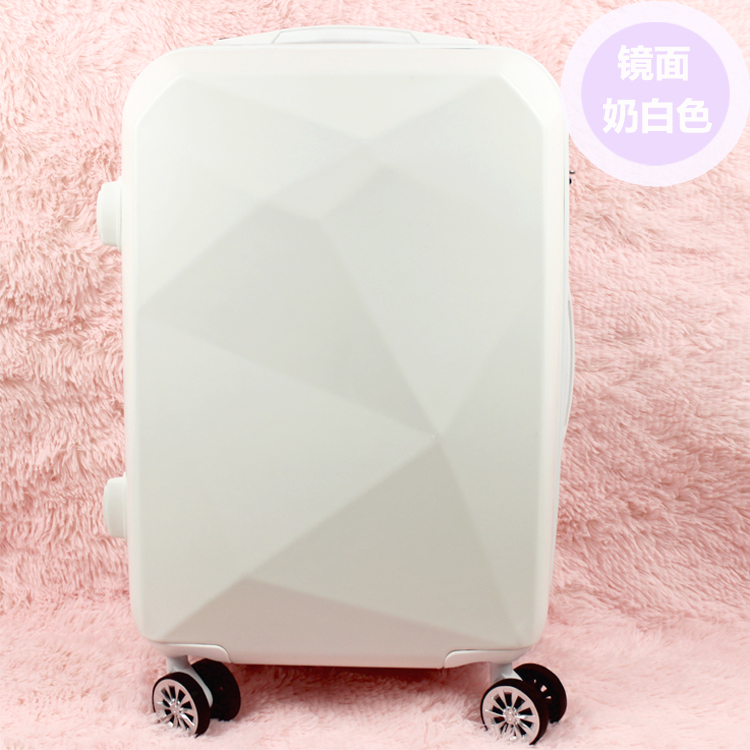 Korea facet diamonds luggage trolley universal wheel suitcase trolley suitcase of students female Rod 20-inch