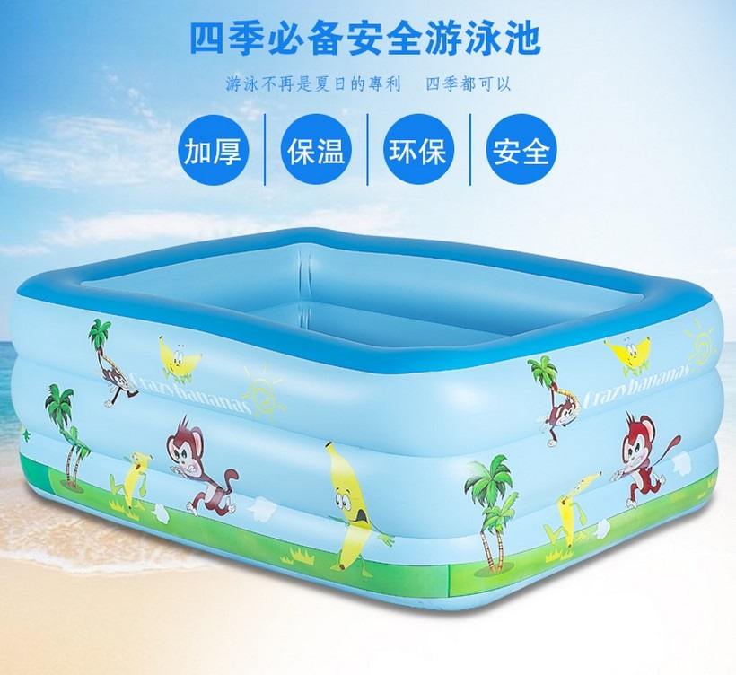 Children, children, swimming pool, inflatable home, adult, family, children, baby, thickening pool, children's swimming pool