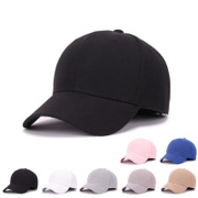Solid black baseball cap female male and female lovers peaked cap autumn hip-hop hat leisure summer sun hat