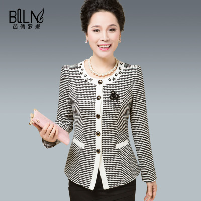 Ba qian rona mother paragraph cultivate one's morality grows in autumn coat small suit thin 40-50 middle-aged and old ladies