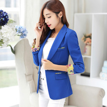 Small spring suit womens blouses 2017 long lace casual Korean version of self in the new suit size