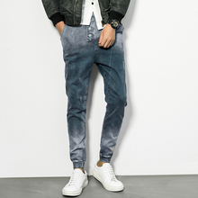 Autumn new men's jeans slim size elastic pants Haren upon Japanese long pants are trousers