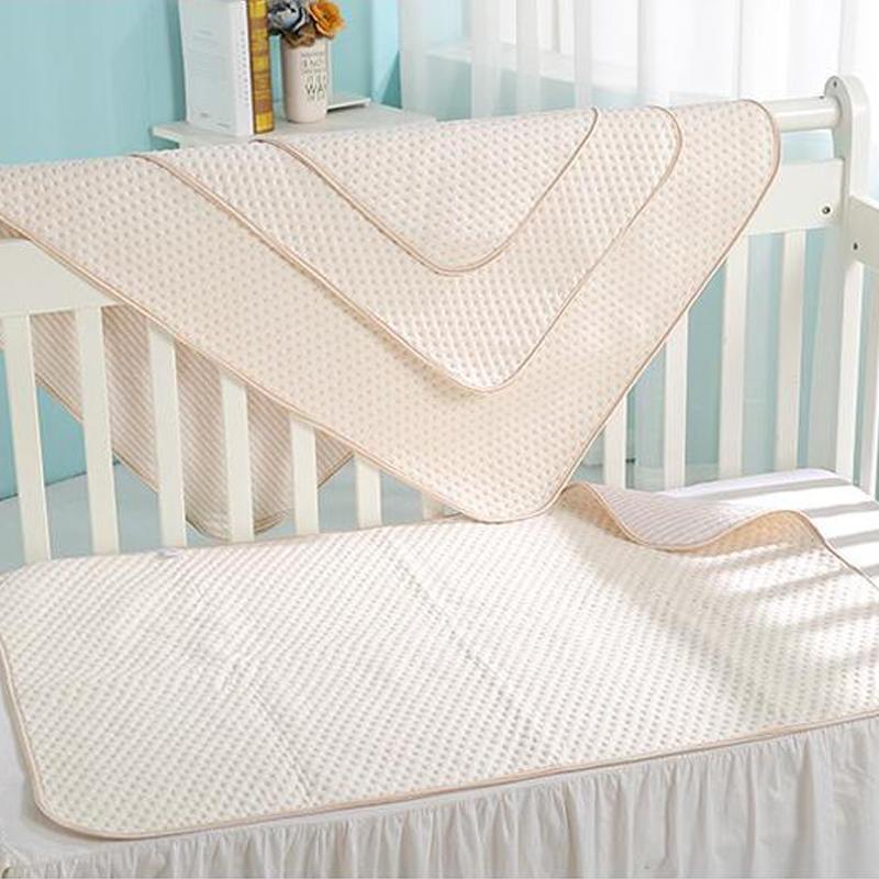 Washable cotton baby diaper mat baby waterproof cotton heart-shaped urine pad for baby urine mattress