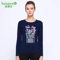 Fall winter baoshilong new female casual simple letter printed long sleeve t-shirt 920804290