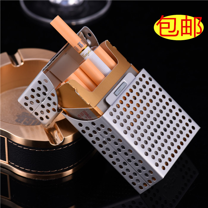 Rifle authentic hard box cigarette man hollow out cigarette 20 creative/clamshell metal/cigarette box is the real thing
