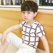 Kids Boys summer suit 2017 new children summer children T-shirt two piece Korean tide