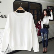 Spring and autumn thin sweater without cap female Korean students head wide tide coat Songyuan Su BF wind ulzzang of South Korea