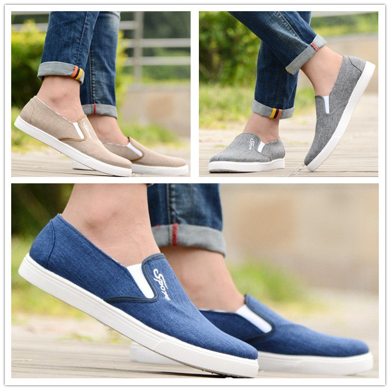 Korean autumn, Beijing canvas shoes, men's casual shoes, foot tic shoes, shoes, men's shoes, men's foot shoes