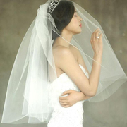 Special offer new Korean star Gianna Jun bride wedding veil double comb can be concealed short veil