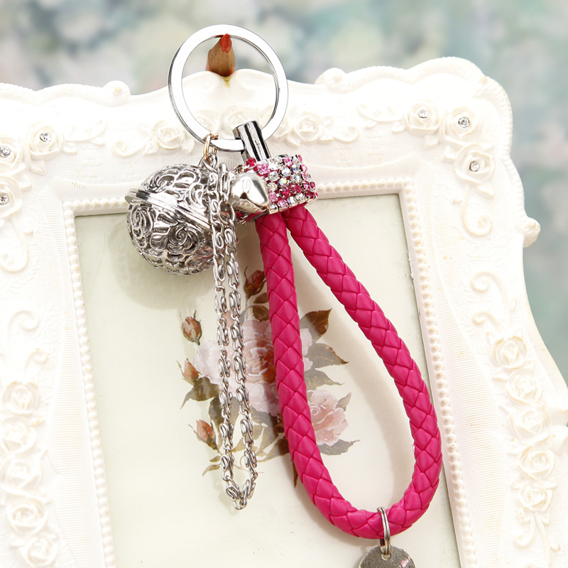 Korea creative gift cute flower and bone palace bell car key ring pendant jewelry bag pendant key chain