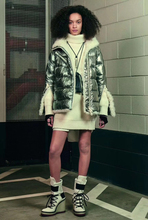 HK V luxury jacket purchasing discount moncler Au can stare space silver lamb wool coats