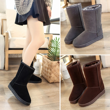 Autumn and winter snow boots female 2017 new students in Korean all-match tube short boots and cashmere boots boots tidal flat