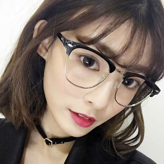 Anti fatigue anti radiation glasses anti blue glasses female mobile phone computer eye excessive number of flat mirror goggles