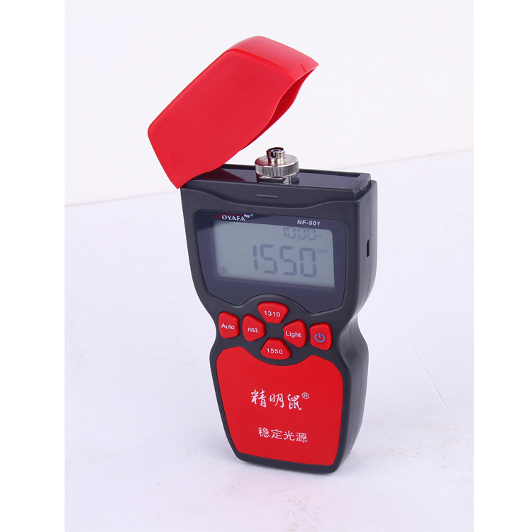 New smart mouse NF-901 stabilized light source, 1310nm and 1550nm dual wavelength fiber optic test