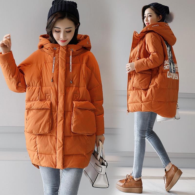 2017新款韩版中长款冬天帽子棉服冬装女外套时尚潮流女装