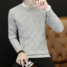 Men fall classic striped T-shirt sweater knitted casual fashion backing small fresh personality self-cultivation sweater