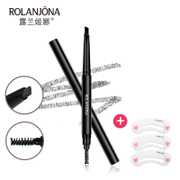 Double headed rotary automatic eyebrow pencil waterproof anti sweat non natural and lasting synophrys beginners with eyebrow eyebrow brush