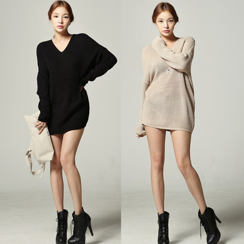 200 pounds of large size women winter fat mm Korean version of the long paragraph sweater fat sister thin shirt