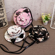 2016 new cute Korean buns Satchel Shoulder bow shoulder female multifunctional hat bag