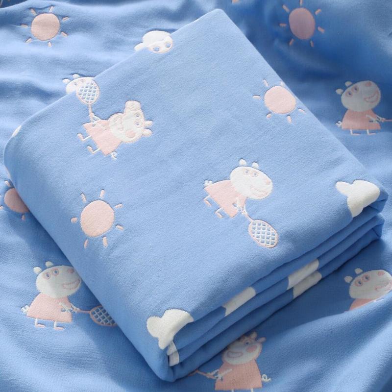初生婴儿浴巾纯棉纱布超柔吸水新生儿童宝宝小孩卡通毛巾被洗澡巾