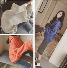 With female hooded sweater cashmere jacket autumn winter thickening Korean student tide size loose Hoodie Jacket
