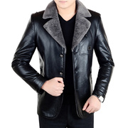 Autumn and winter new men's haining leather leather men's fur one suede padded jacket sheepskin coat
