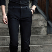 The fall of new men's business casual pants slim pants male Korean black trousers men's trousers jeans trend