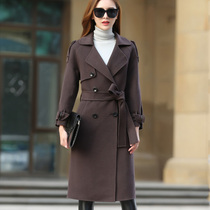 Genuine stars with woolen cloth coat woman long 2016 slim Korean version in double-faced wool coat winter coats jackets