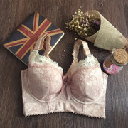 Adjustable underwear full cup bra thin collection of milk gathered without sponge beauty back big size chest show small bra