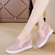 Within the women's movement in spring and summer wedges shoes white ultra high permeability thick-soled casual shoes