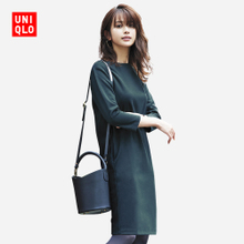Self provided women knit straight dress (7 quarter) 400997 of its UNIQLO
