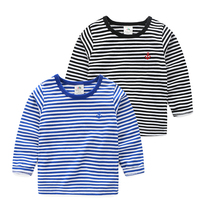 Spring baby striped shirts at the end of 2017 new childrens clothing boys children head t shirt TX-6001