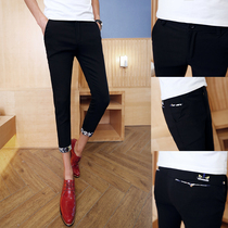 Stylist mens 26 small slim 9 yards short pants leisure pants of nine young boys 27 feet pants