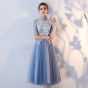 2017 new winter bridesmaid dresses Style Evening Dress Dress Girls Long Sleeved sisters long skirt and sisters