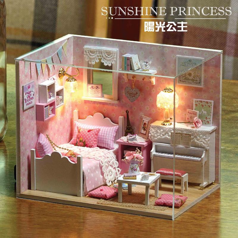 儿童玩具小女孩子公主智力益智3d立体拼图木质6-7 8 9 10 11岁