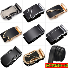 Belt buckle scalp lead men alloy automatic buckle waist belt clip lead Korean 3.5cm accessories
