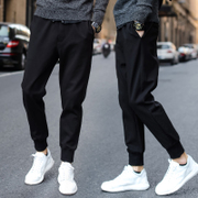 Male pants loose pants trousers with Velvet Pants Haren winter size Wei pants trend of Korean men's casual pants
