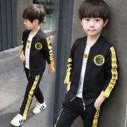 Kids boys set 2017 new spring and autumn in spring and autumn in children three children suit Korean fashion tide clothing