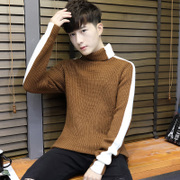 Winter turtleneck sweater male Korean version of the trend of self-cultivation handsome men thick warm knit shirt