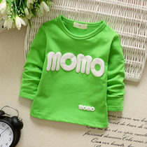 0-1 spring baby cotton coat fall winter fleece boy girl Korean version played top childrens long sleeve t-shirt thickened