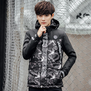 The new couple of season special offer short jacket camouflage male Hooded Jacket slim young Korean female fashion tide