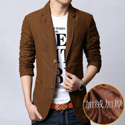Autumn and winter men and men's suits young men's cashmere thickened Korean slim casual suit jacket XL small