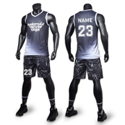 Male basketball suit vest students match Jersey breathable training custom printing summer basketball clothes