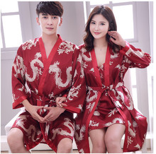 Wedding wedding pajamas newlywed couple set bride red robe