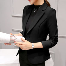 Small suit female 2018 new spring and autumn chic professional wild suit long-sleeved Korean Slim thin short coat