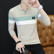 Men with long sleeve shirt sweater cashmere T-shirt Korean outside wear thick clothes fashion shirt autumn autumn clothes