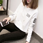 In the autumn of 2017 new Korean tide loose hooded ulzzang long sleeved chic thin coat sweater female students
